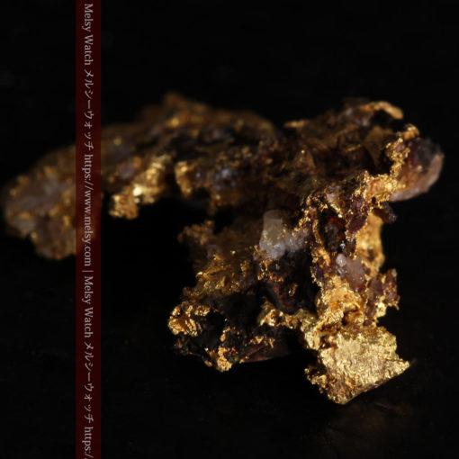 1.71gの小さな石英などを含む個性的な形の自然金-G0384-12