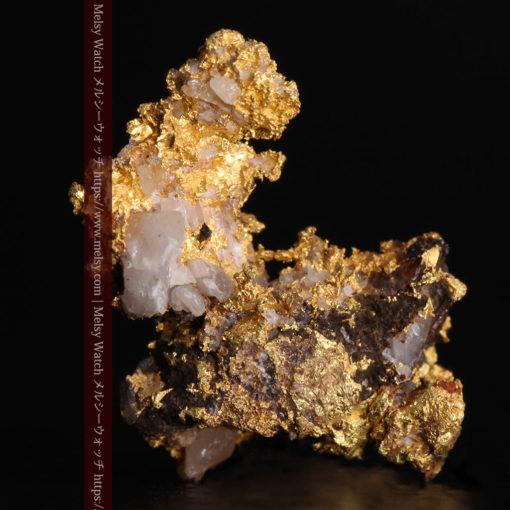 1.71gの小さな石英などを含む個性的な形の自然金-G0384-2