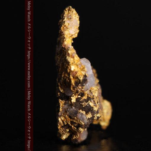1.71gの小さな石英などを含む個性的な形の自然金-G0384-3