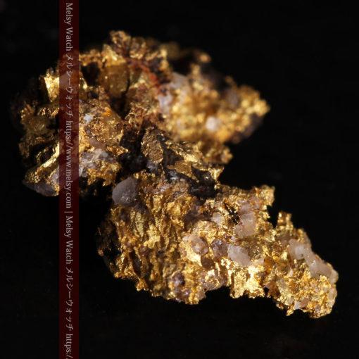 1.71gの小さな石英などを含む個性的な形の自然金-G0384-5