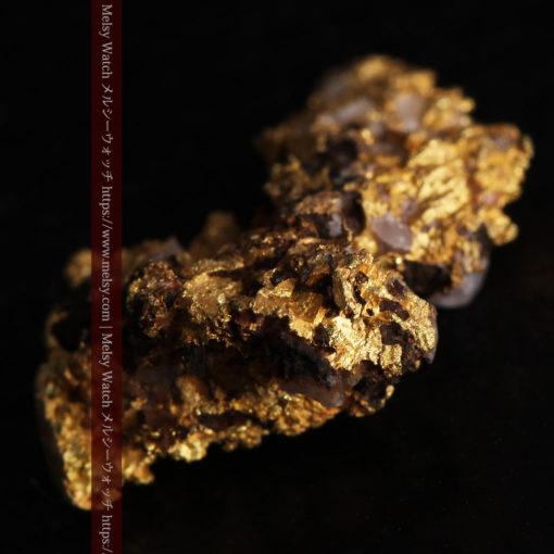 1.71gの小さな石英などを含む個性的な形の自然金-G0384-9