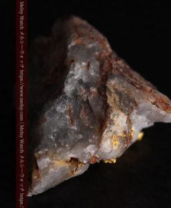 4.39gの石英から飛び出す立体的な自然金-g0386-11
