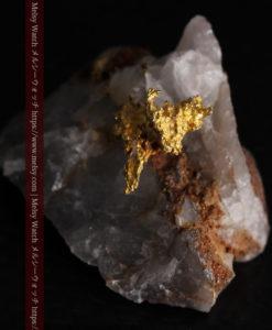 4.39gの石英から飛び出す立体的な自然金-g0386-6