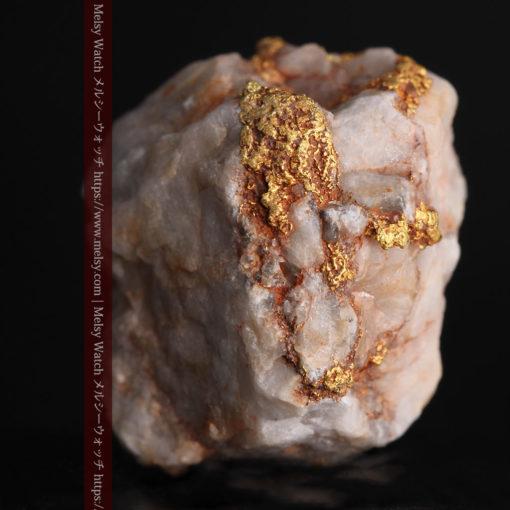 9.7gの石英から湧き出すような姿の自然金-G0387-1