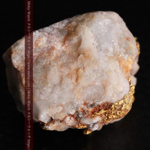 9.7gの石英から湧き出すような姿の自然金-G0387-11