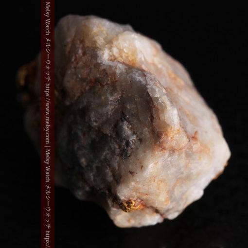 9.7gの石英から湧き出すような姿の自然金-G0387-12