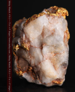 9.7gの石英から湧き出すような姿の自然金-G0387-3