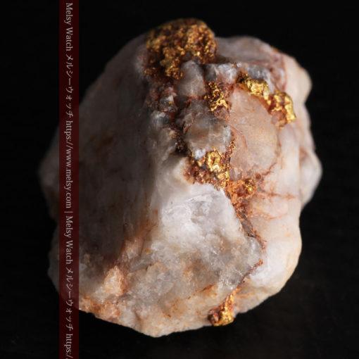 9.7gの石英から湧き出すような姿の自然金-G0387-8