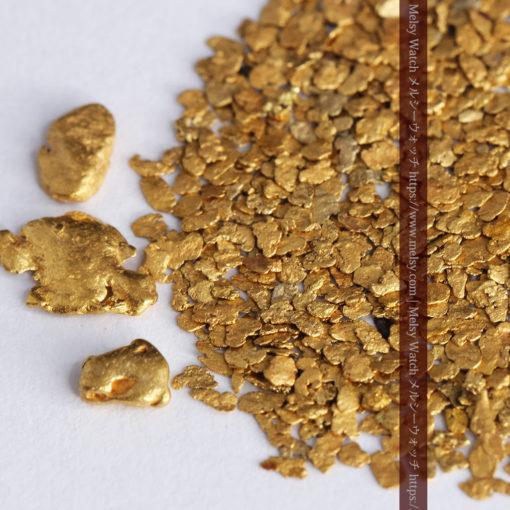 3.26gの小さな薄片金とやや粒の大きな自然金3点-G0388-1