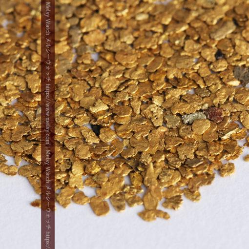 3.26gの小さな薄片金とやや粒の大きな自然金3点-G0388-2