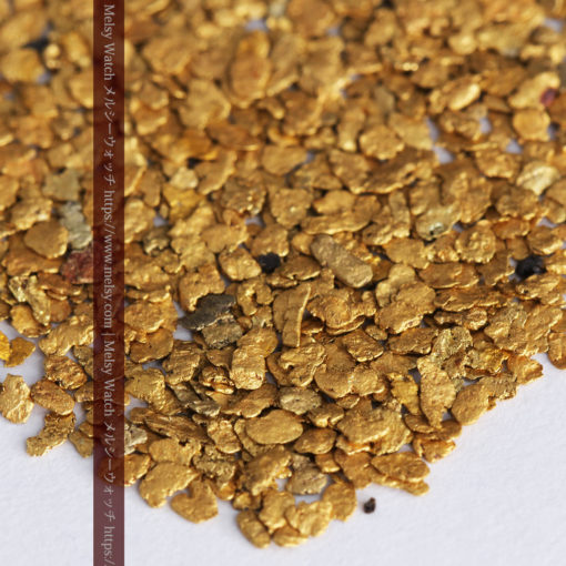 3.26gの小さな薄片金とやや粒の大きな自然金3点-G0388-3