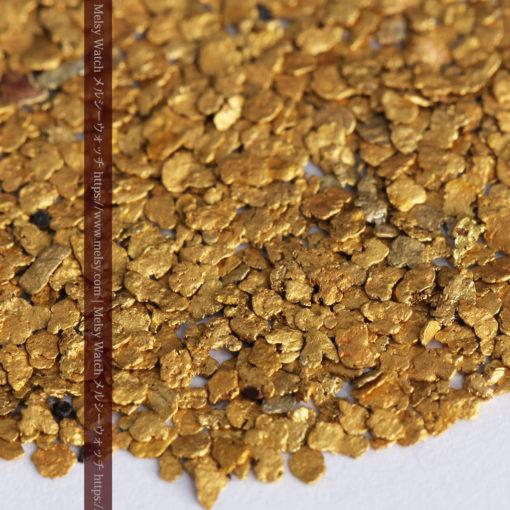 3.26gの小さな薄片金とやや粒の大きな自然金3点-G0388-4