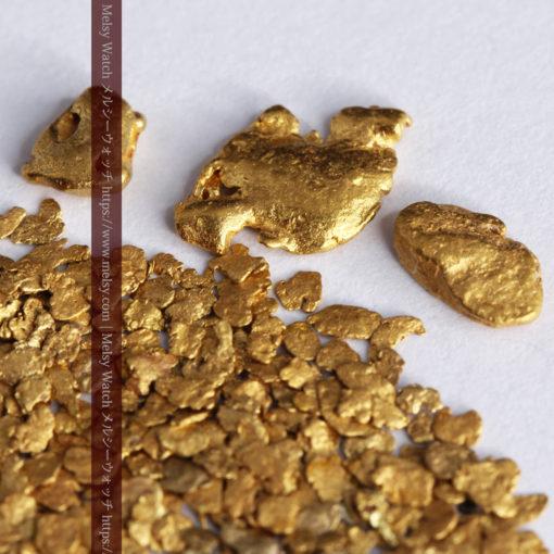 3.26gの小さな薄片金とやや粒の大きな自然金3点-G0388-6