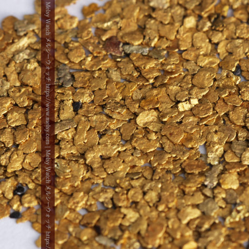 3.26gの小さな薄片金とやや粒の大きな自然金3点-G0388-7