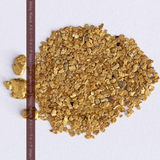 3.26gの小さな薄片金とやや粒の大きな自然金3点-G0388-8