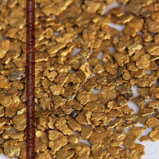 3.09gの小さな薄片金とやや粒の大きな自然金3点-G0389-1