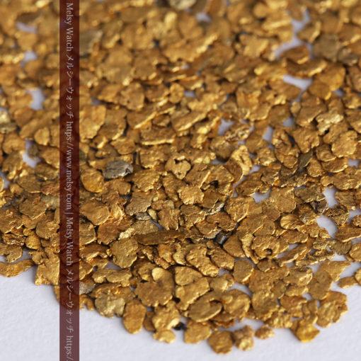 3.09gの小さな薄片金とやや粒の大きな自然金3点-G0389-2