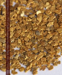 3.09gの小さな薄片金とやや粒の大きな自然金3点-G0389-3