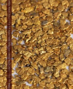 3.09gの小さな薄片金とやや粒の大きな自然金3点-G0389-4