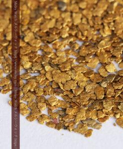 3.09gの小さな薄片金とやや粒の大きな自然金3点-G0389-5