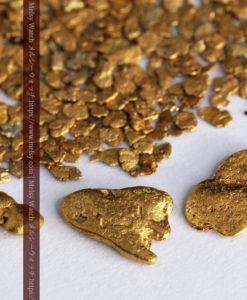3.09gの小さな薄片金とやや粒の大きな自然金3点-G0389-6