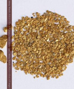 3.09gの小さな薄片金とやや粒の大きな自然金3点-G0389-8