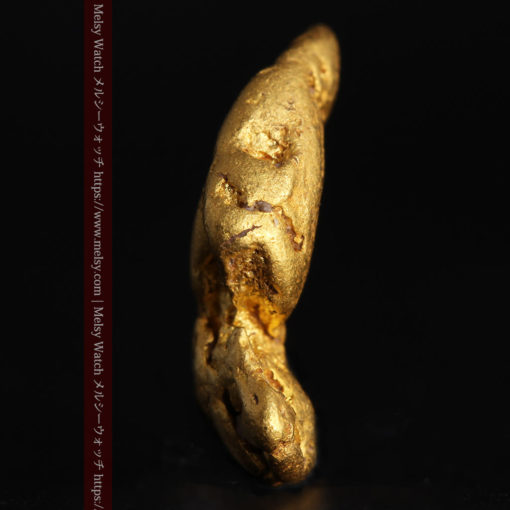 1.89gの泳ぐ魚のような形の自然金-G0390-3