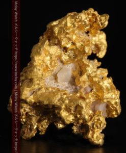 4.63gの少しの石英を含んだ野趣に溢れる立体的な自然金-G0395-1