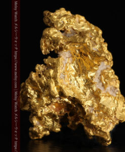 4.63gの少しの石英を含んだ野趣に溢れる立体的な自然金-G0395-2