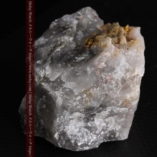 33.7gの大きな石英の谷間に走る綺麗な自然金-G0399-10