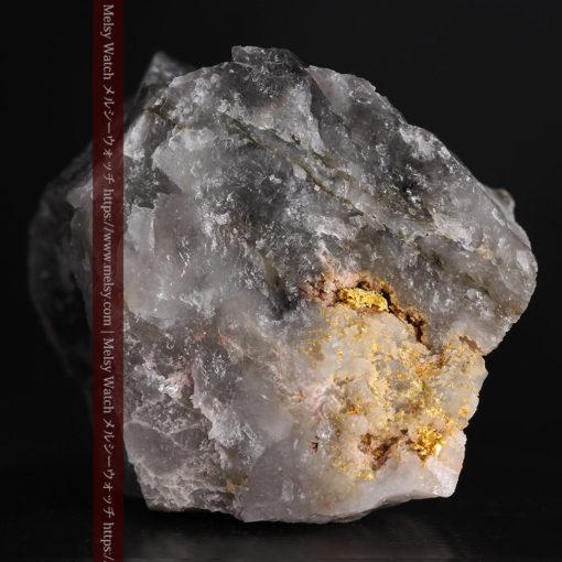 33.7gの大きな石英の谷間に走る綺麗な自然金-G0399-4