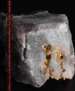 33.7gの大きな石英の谷間に走る綺麗な自然金-G0399-7
