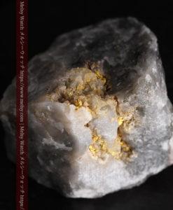 33.7gの大きな石英の谷間に走る綺麗な自然金-G0399-8