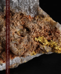 80gの大きな石英の表面に見える繊細な自然金-G0400-1