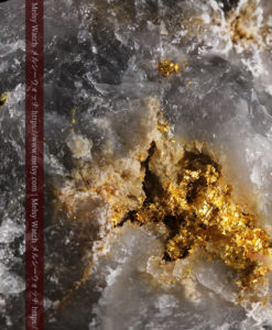 49gの三角柱のような形をした石英に見える自然金-G0402-1