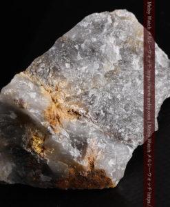49gの三角柱のような形をした石英に見える自然金-G0402-10