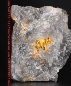 49gの三角柱のような形をした石英に見える自然金-G0402-3