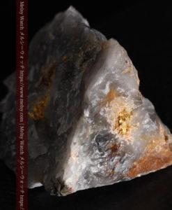 49gの三角柱のような形をした石英に見える自然金-G0402-9