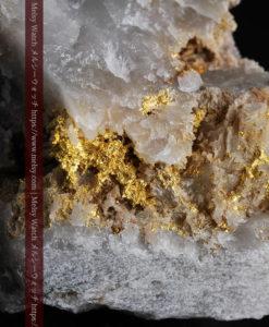 72gの大きな石英の中を通る自然金-G0403-1