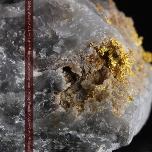 72gの大きな石英の中を通る自然金-G0403-3