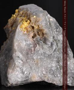 72gの大きな石英の中を通る自然金-G0403-4
