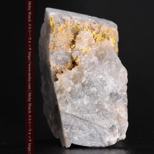72gの大きな石英の中を通る自然金-G0403-6