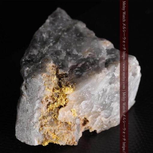 72gの大きな石英の中を通る自然金-G0403-8