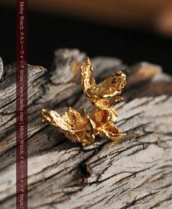 1.45gの綺麗に広がる磨かれた自然金-G0412-1