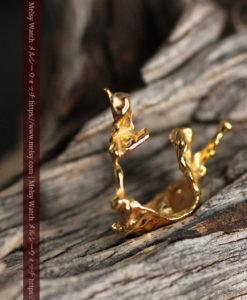 1.09gの帆船のような形をしている磨かれた繊細な自然金-G0413-2