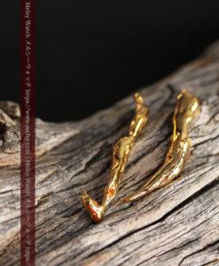 1.88gの綺麗に磨かれた2本の細い自然金-G0414-1
