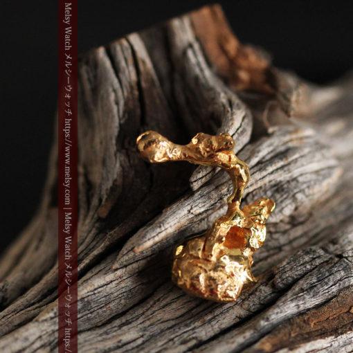 4.18gの個性的なアヒルのような形の磨かれた自然金-G0415-1