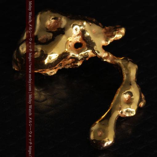 4.18gの個性的なアヒルのような形の磨かれた自然金-G0415-12