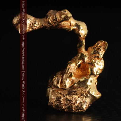 4.18gの個性的なアヒルのような形の磨かれた自然金-G0415-3