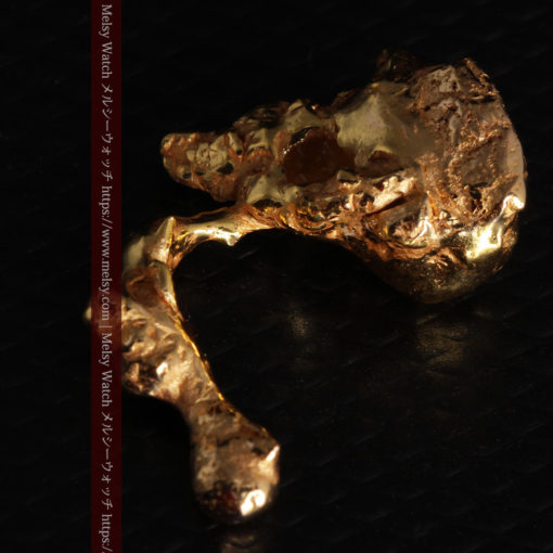 4.18gの個性的なアヒルのような形の磨かれた自然金-G0415-8